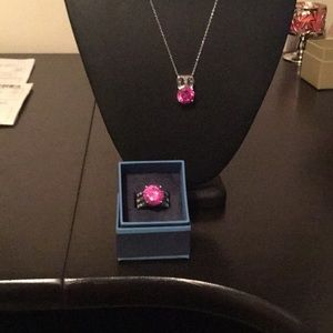 Jewelry - 7.80 Lab Created pink Sapphire with .71 ct